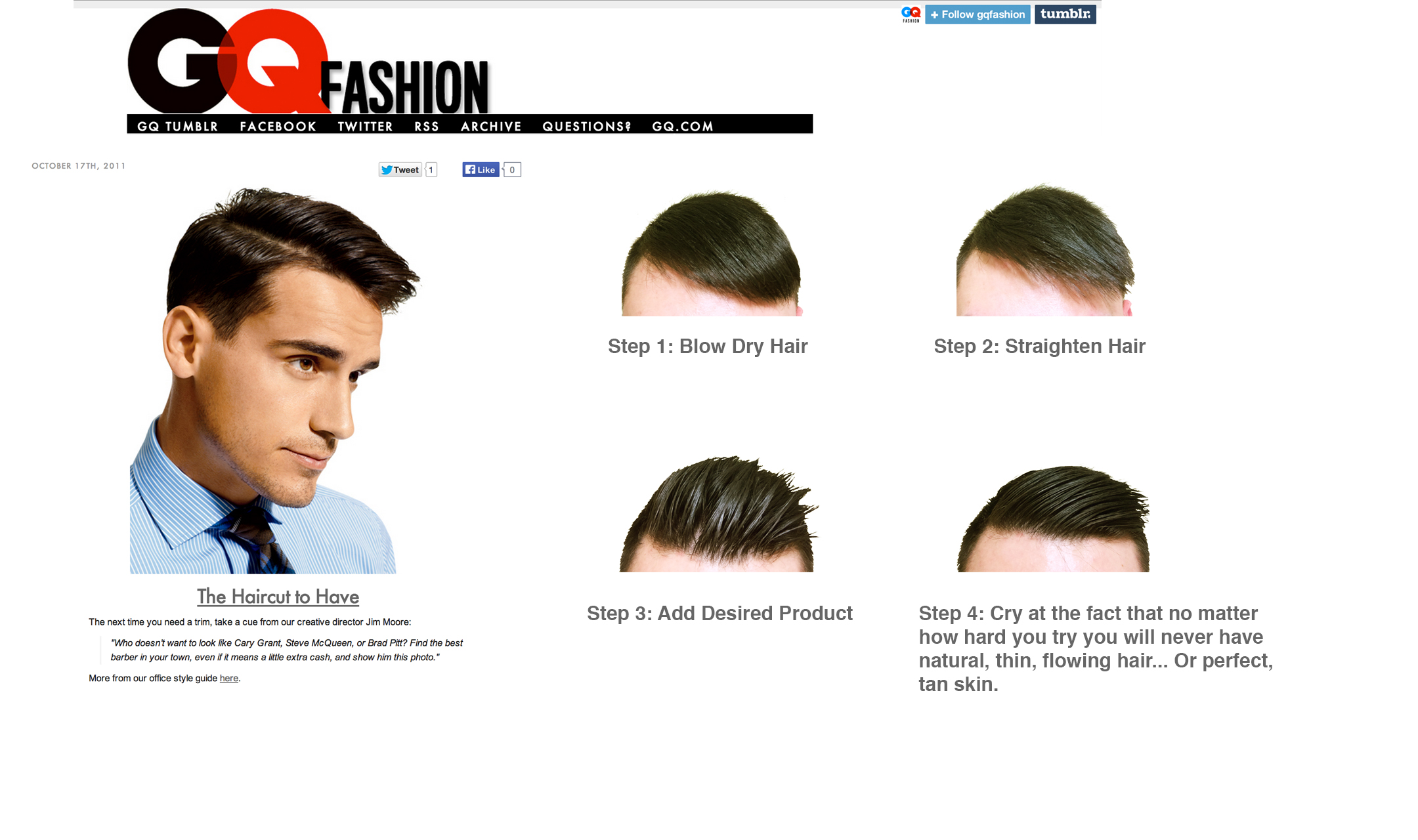 GQ Fashion – The Haircut to (not?) Have | Michael Diaz